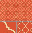 Vintage Orange Worn Seamless Pattern Background vector image