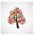 geometric tree symbol vector image