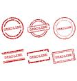 Deadline stamps vector image
