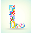 Letter L colored font from numbers vector image