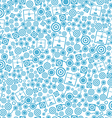 3d printer blue seamless pattern on the white vector image