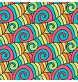 Colorful waves pattern Spiral background vector image