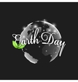 Earth Day background with the words world globe vector image