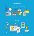 communications education and learning research vector image