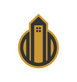 golden tower housing simple graphic vector image