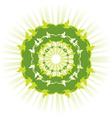 green sun vector image
