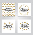 happy new year gold set vector image