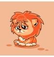 Lion cub sad vector image