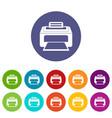 Modern laser printer set icons vector image