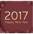 digital happy new year 2017 text design vector image