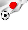 Japanl Flag soccer vector image vector image