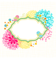 Colorful Flower Bird Garden Party Invitation vector image vector image