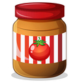 A jar of tomato jam vector image vector image