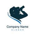 photographer logotype vector image
