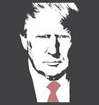 american president donald trump flat vector image