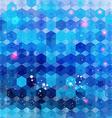 Blue hexagon background image vector image
