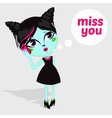 Fashion Beautiful Living Dead Zombie girl vector image