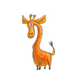 funny cartoon giraffe vector image