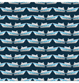 Seamless pattern with yachts vector image