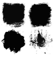 Set of 4 artistic dry brush painted textures vector image