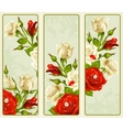 set of Rose vertical banners vector image