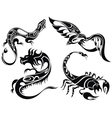 Tattoo animals vector image