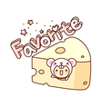 A slice of cheese vector image vector image