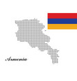 armenia map with polka dots and the armenia vector image
