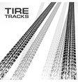 Tire tracks on white  text vector image vector image