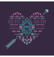 Tribal Heart - Vintage Aztec Background vector image