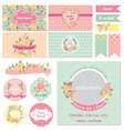 Baby Shower Flower Theme vector image