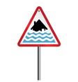 Severe flood Warning vector image