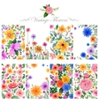 Watercolor floral background for designing purpose vector image