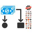 cashflow icon with dating bonus vector image