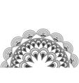 circular decorative line half mandala icon vector image