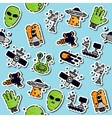Colored UFO pattern vector image