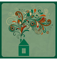 ecology concept with small house vector image