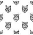 Sketch Wolf seamless pattern Hand drawn vector image