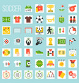 soccer flat icons vector image