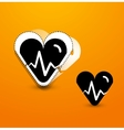 Stylized black heart abstract background vector image