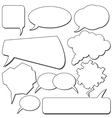 Talking bubbles vector image
