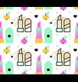 woman symbols seamless pattern lipstick apples vector image