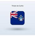Tristan da Cunha flag icon vector image