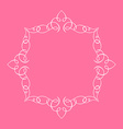Calligraphic frame and page decoration pink vector image vector image
