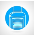 Sport supplements round icon vector image