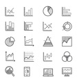 Business Chart and Graph Icons Line vector image vector image