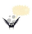 cartoon spooky bird with speech bubble vector image