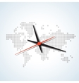 Clock map vector image