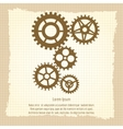 Gears icons combination on vintage background vector image