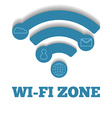 Icon WIFI zone free wi-fi vector image